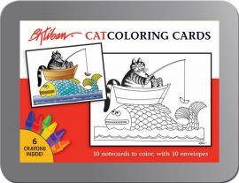 B Kliban Cats Coloring Cards